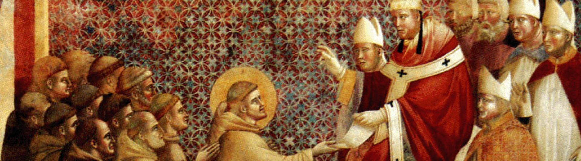 De paus erkent de regel van de heilige Franciscus